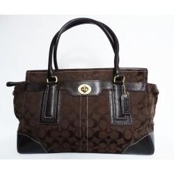 COACH голяма дамска чанта с естествена кожа