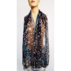 LOUIS VUITTON Paris дълъг дамски шал 100% коприна