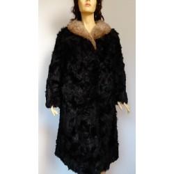 Дамско палто 100% естествен косъм