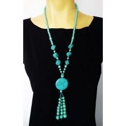 "Дамско колие ""Turquoise"" естествени камъни Ново!"