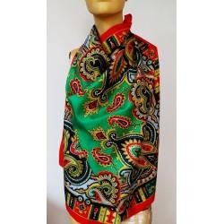 ESPRIT vintage голям дамски шал 100% коприна