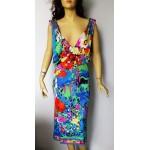 LEONARD Paris Vintage 1980s дамска рокля 100% коприна Оригинал!