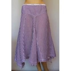 ARMANI jeans дамска пола с асиметрична дължина 100% лен