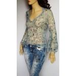 AMNESIA original Paris дамска блуза 100% коприна